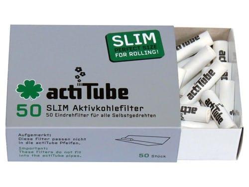 Actitube ~ Aktivkohlefilter Slim ~ (50Stk.)