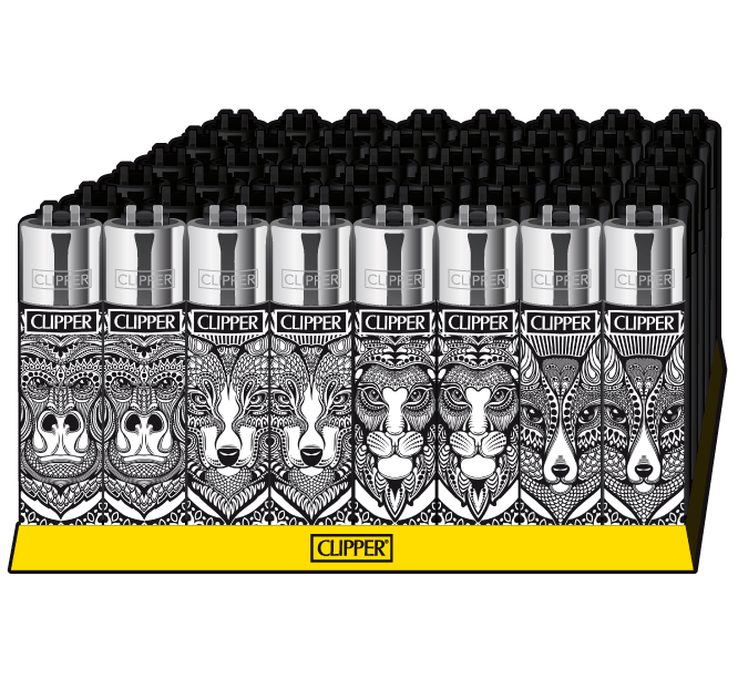 Clipper ~ Feuerzeug Tattoo Animals (Box 48 Stk.)