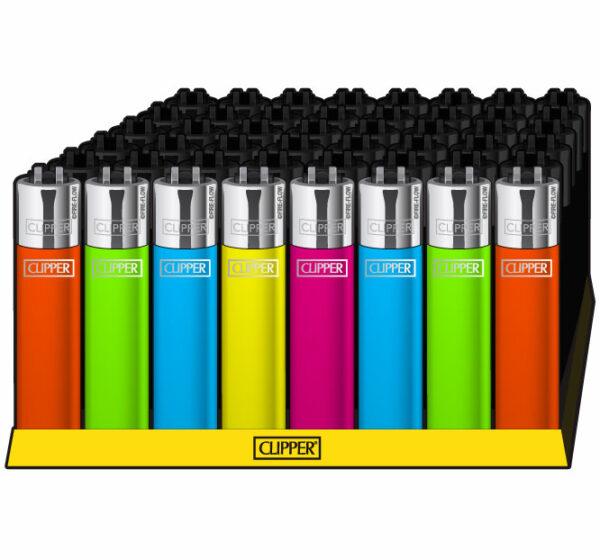 Clipper ~ Feuerzeug farbig-glänzend (Box 48 Stk.)