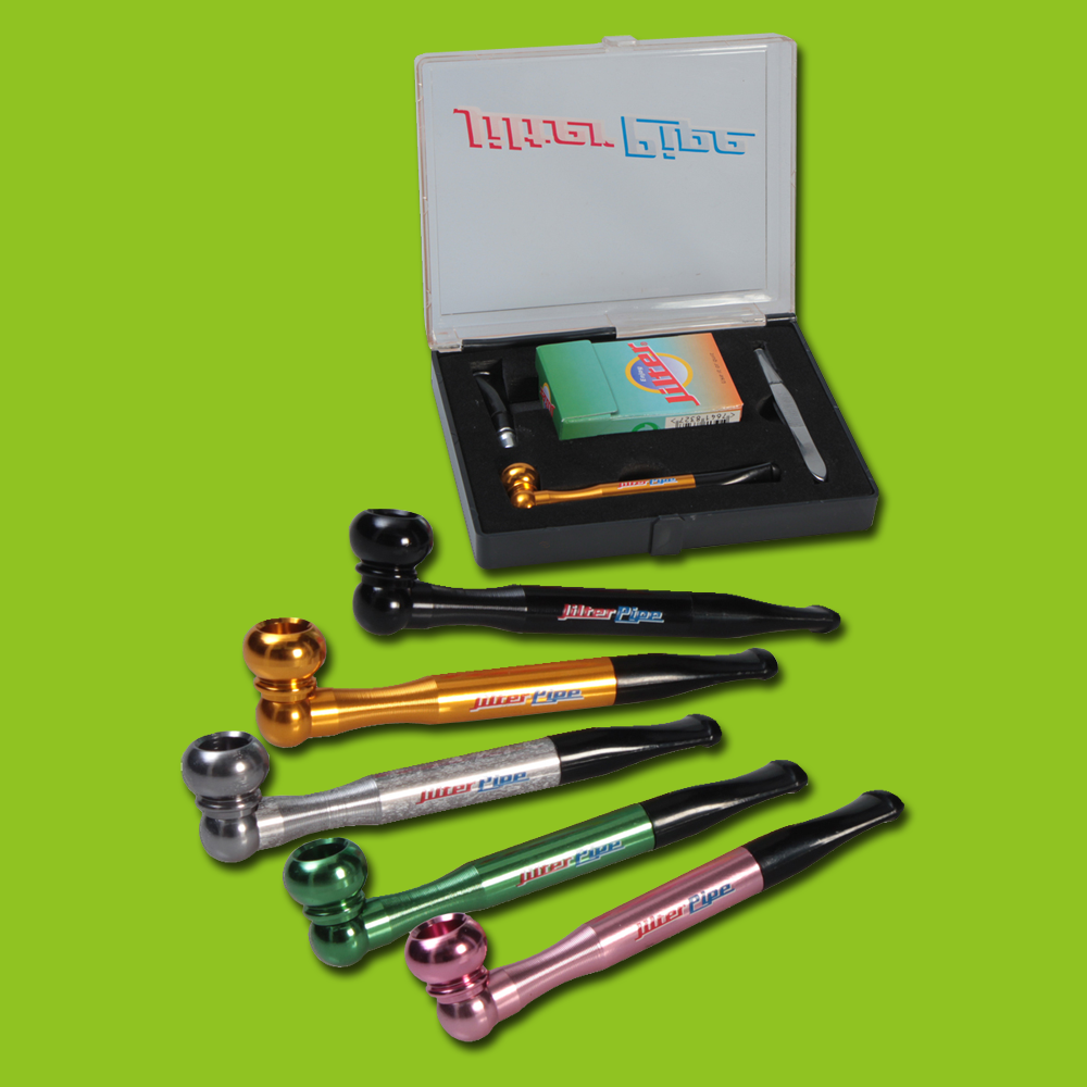 Jilter ~ Alu One-Hit Pipe mit Jilter GREEN