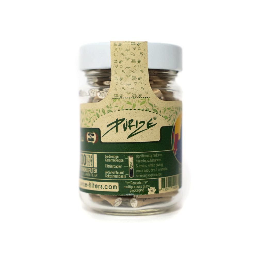 PURIZE® ~ Xtra Slim im Glas ORGANIC ~ (100Stk.)