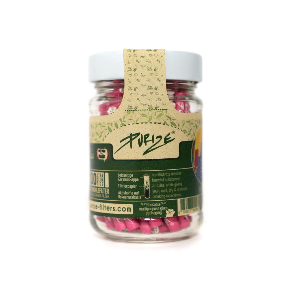 PURIZE® ~ Xtra Slim im Glas PINK ~ (100Stk.)