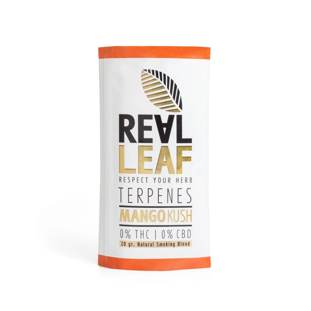 Real Leaf ~ Mango Kush nikotinfreier Tabakersatz ~ 20g