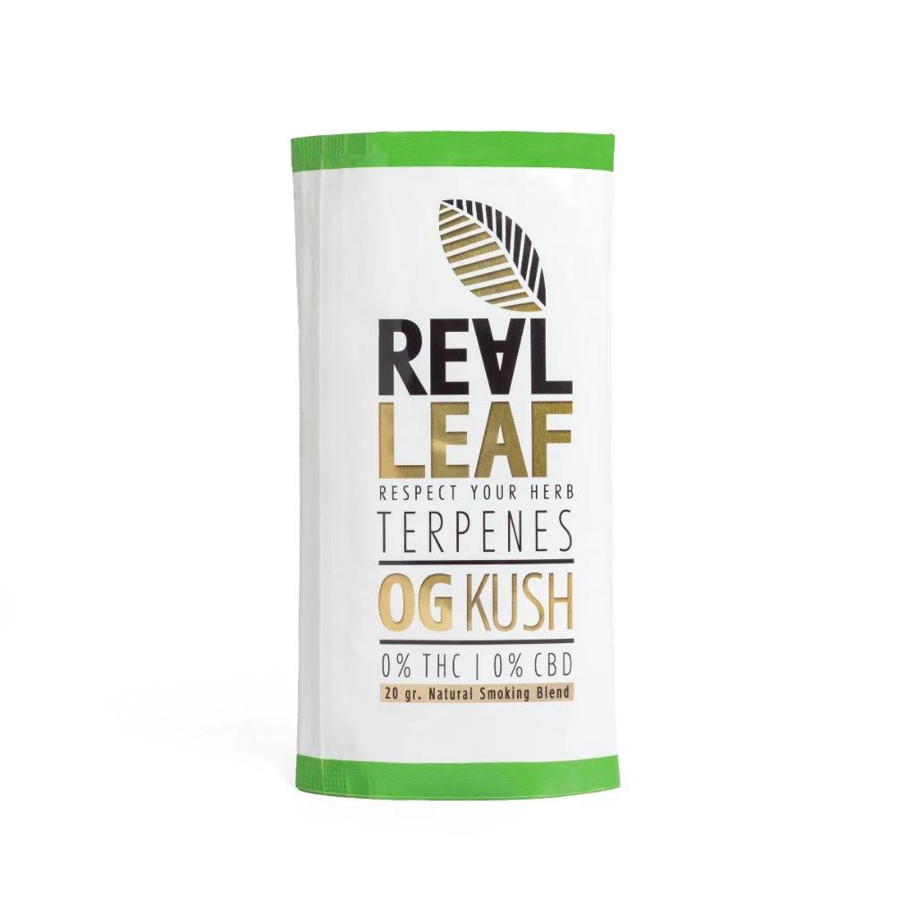 Real Leaf ~ OG Kush nikotinfreier Tabakersatz ~ 20g