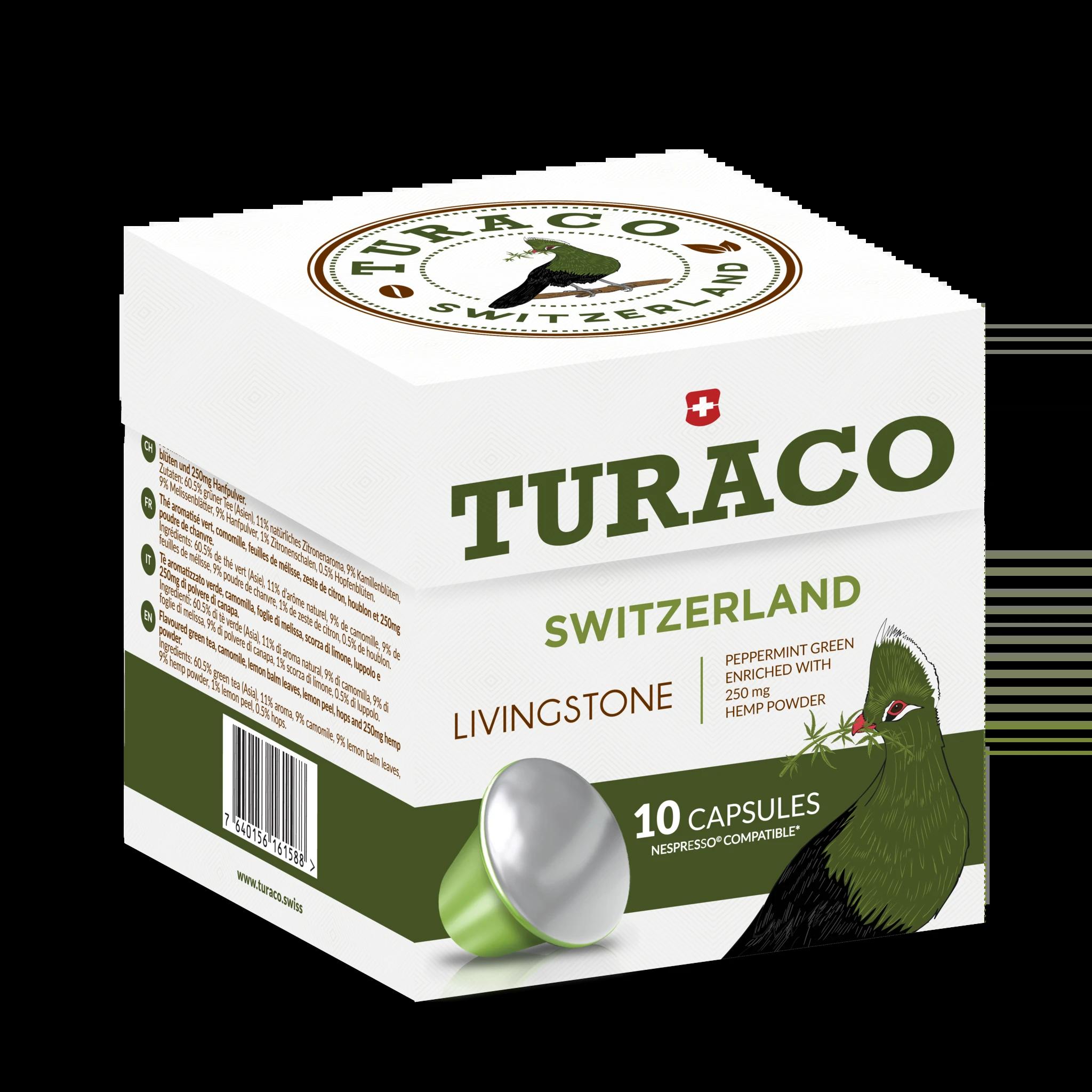Turaco ~ Livingstone CBD Tee ~ 10 Kapseln