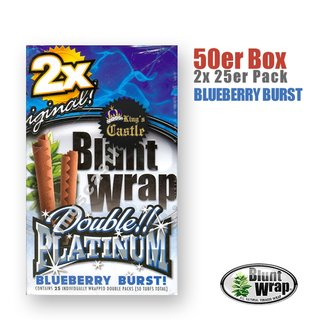 Blunt Wrap Platinum ~ Blueberry Burst ~ (Box 25Stk.)
