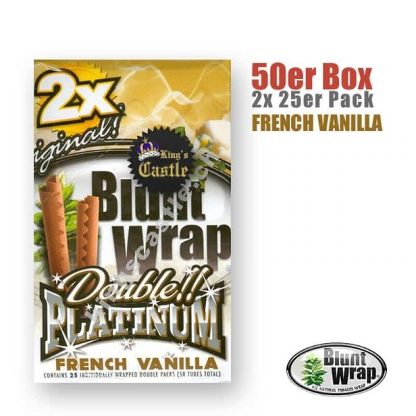 Blunt Wrap Platinum ~ French Vanilla ~ (Box 25Stk.)