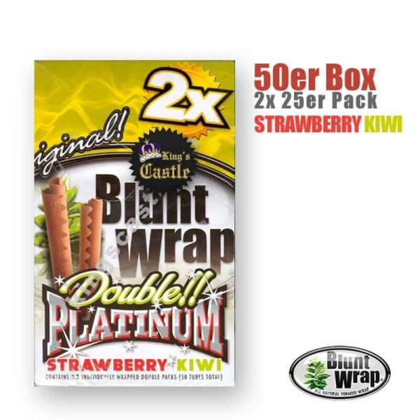 Blunt Wrap Platinum ~ Strawberry Kiwi ~ (Box 25Stk.)