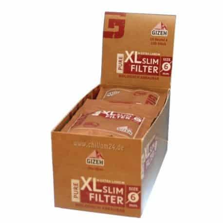 Gizeh ~ Pure XL Slim Filters (Box 20Stk.)