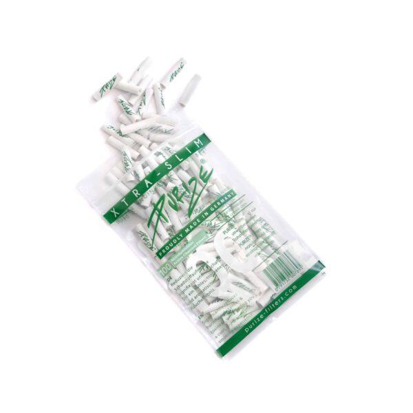 PURIZE® ~ Xtra Slim Aktivkohlefilter WHITE ~ (100Stk.)