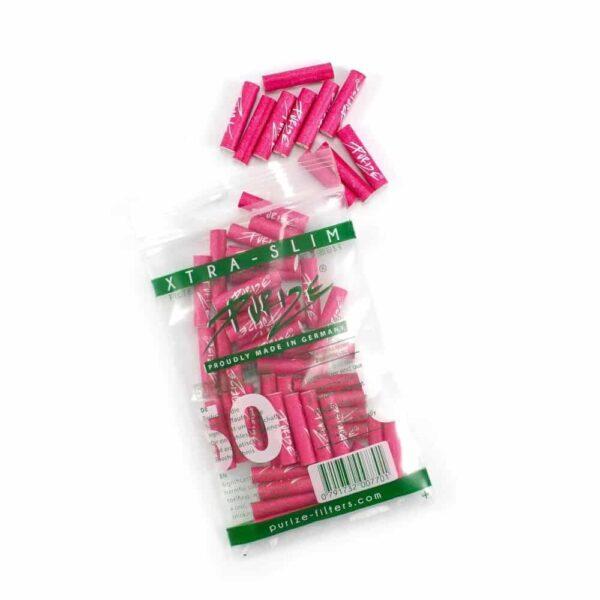 PURIZE® ~ Xtra Slim Aktivkohlefilter PINK ~ (50Stk.)
