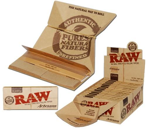 Raw ~ Artesano Papers/Filters/Tray (Box 15Stk.)