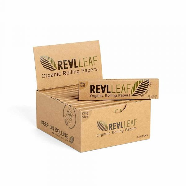 Real Leaf ~ Unbleached Papers & Tips (Box 22Stk.)