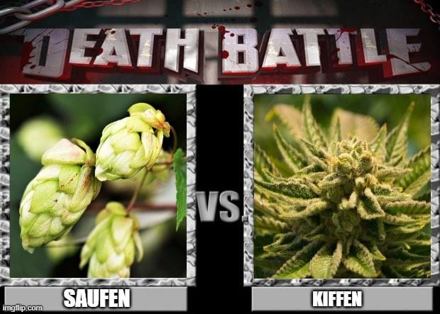 hopfen cannabis saufen kiffen death battle